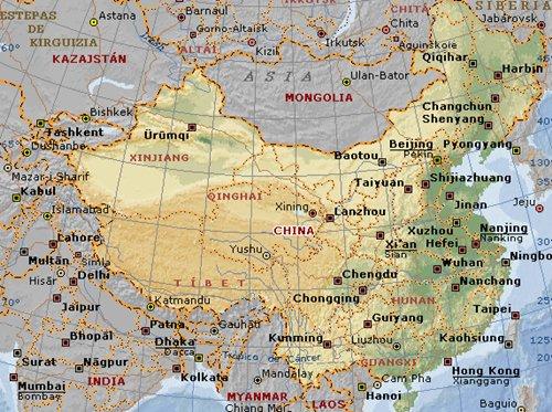 Mapa de la República Popular de China