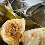 Zongzi, arroz envuelto con hojas de bambú