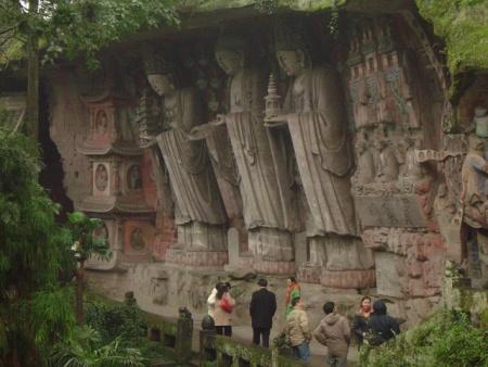 Esculturas de Dazu, arte religioso sobre piedra