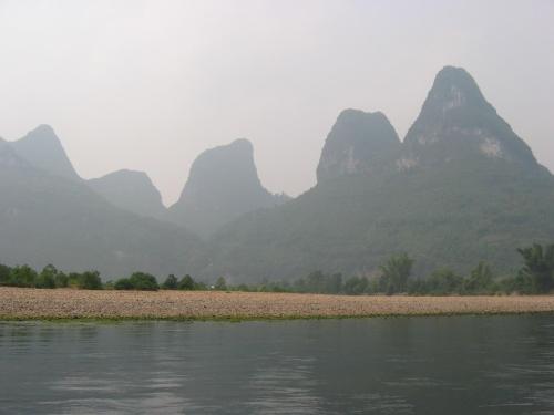 Montañas en la Villa Xingping