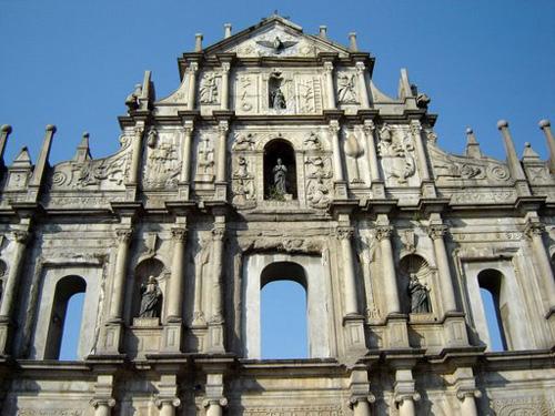 Las ruinas de la Iglesia de San Pablo, en Macao