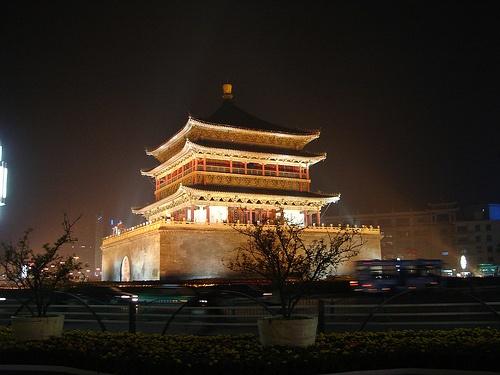 Torre de la Campana, centro de la antigua Xian