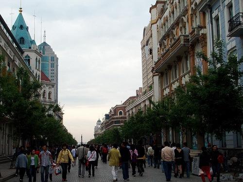 Calle Central de Harbin, reflejos europeos