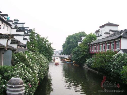 Río Qin Huai, en Nanjing