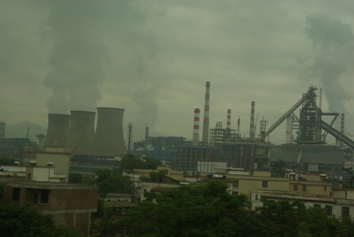 Cielo contaminado en China