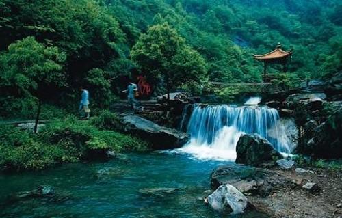 La aldea campesina de Fuyang, cerca de Hangzhou
