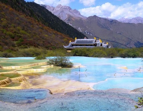 Parque Natural de Huanglong, en Sichuan