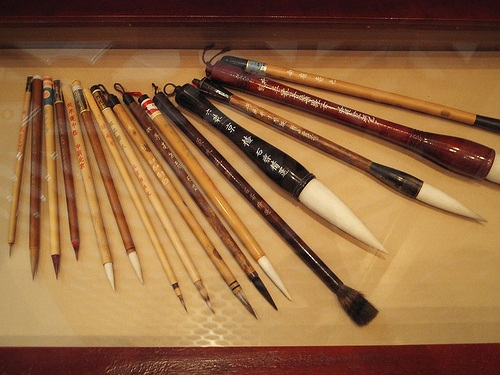 Brochas para la caligrafia china