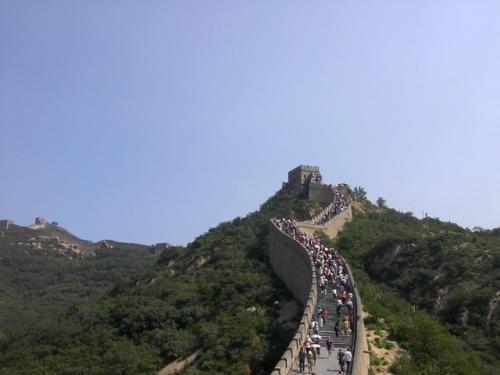 Badaling, la parte más visitada de la muralla china