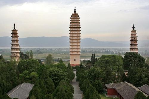 Pagodas del Templo Chongsheng en Dali