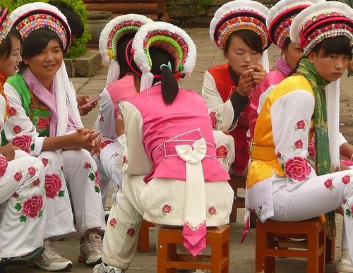 Mujeres de la etnia Bai