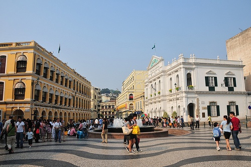 Largo do Senado, en el centro de Macao