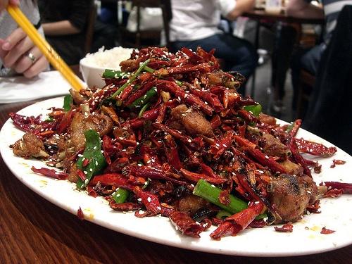 Pollo picante de la cocina de Chongqing