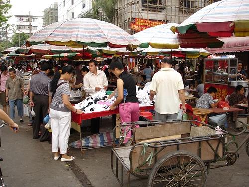Mercado en Nanning