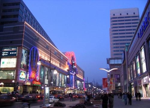 Calle Chongqing Lu en Changchun