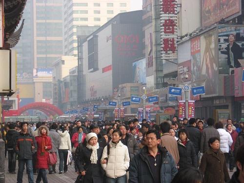 Calle Zhong Jie en Shenyang