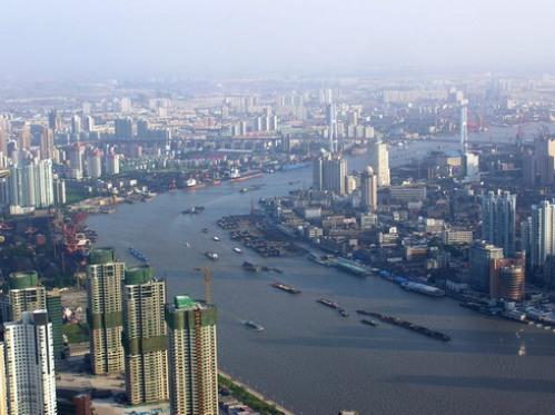crucero por el rio Huangpu