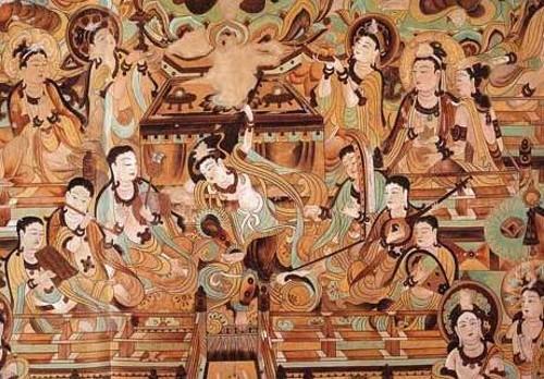 Mural de las cuevas de Mogao