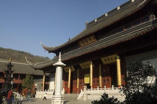 Salon Pi Lu en el Monte Qixia