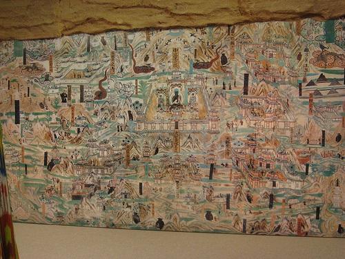 Murales en las Cuevas de Mogao