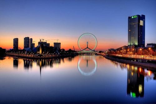 Ojo de Tianjin, atracción y símbolo de la ciudad