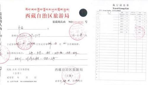 Permiso de ingreso a Tibet