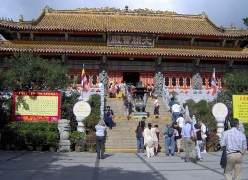 Monasterio de Po Lin, en la isla de Lantau (Hong Kong)