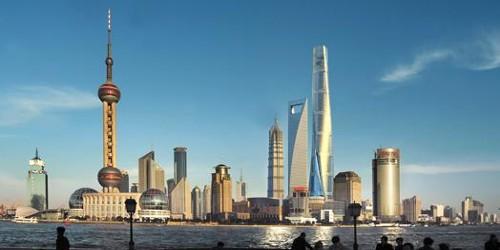 Vista general del skyline de Pudong