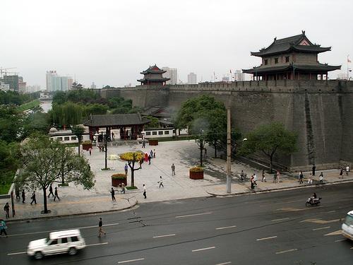 Detalles y puertas de las murallas de Xi'an