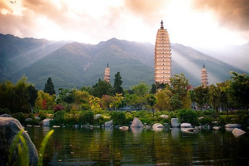Qianxun en las Tres Pagodas