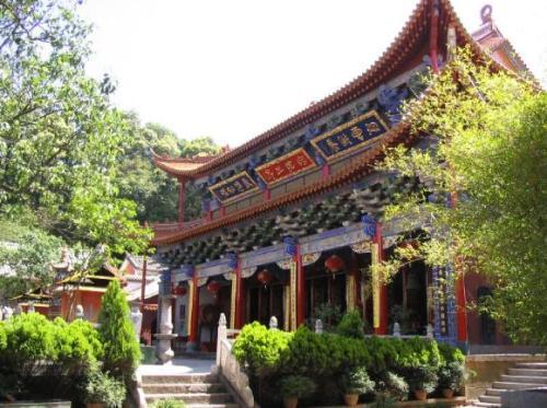 El templo budista de Qiongzhu