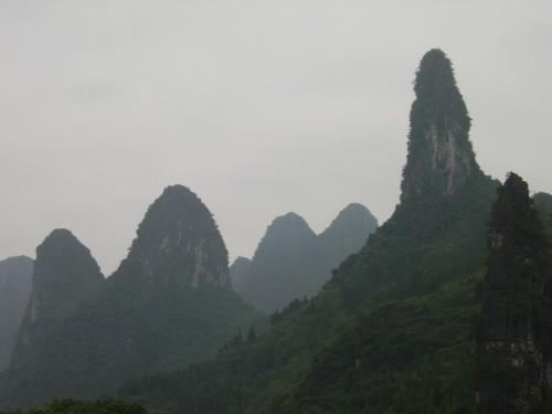 Montañas junto al río Li, en el sur de China