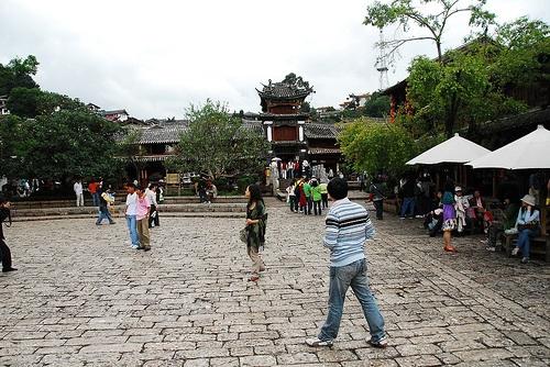 Calle Sifang en el centro de Lijiang