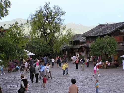Calle Sifanglijiang en Lijiang