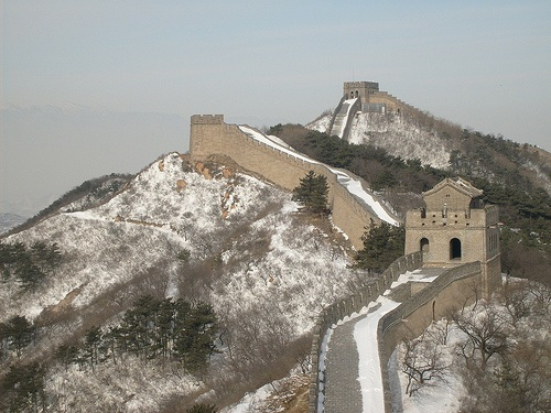 Esquiar en la Muralla China de Badaling