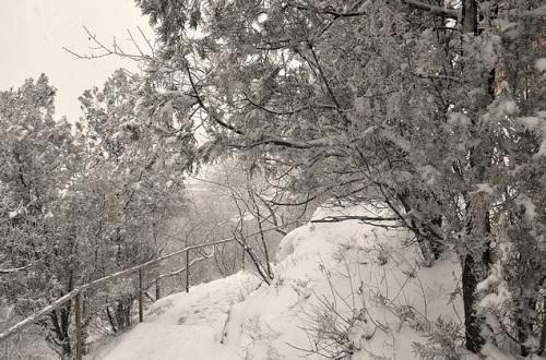Paisajes nevados en Badaling