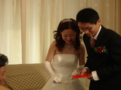 Sobre rojo en boda China