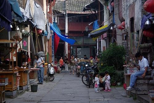 Tiendas en la calle Tunxi