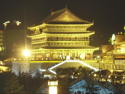 Las torres de la Campana y del Tambor, en Xi'an