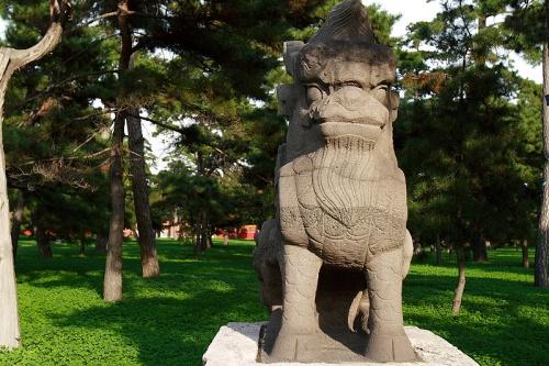 Estatua en la Tumba Zhaoling