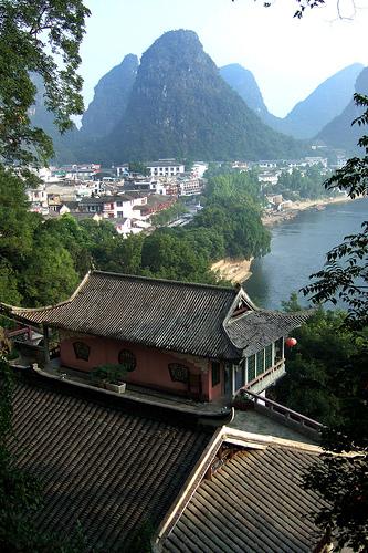 Vista del río Li, en los alrededores de Yangshuo