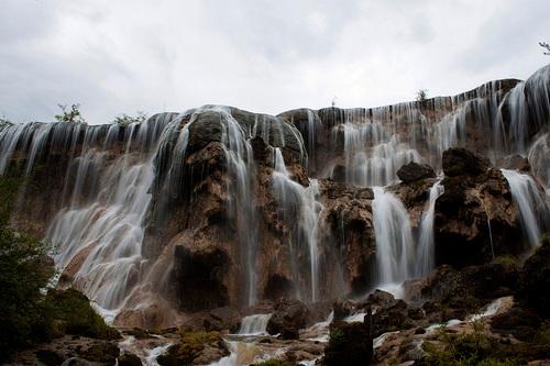Catarata de Zhenzhu Tan en Jiuzhaigou